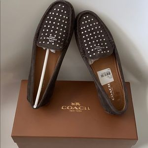 NWT COACH Orlene Calf Suede Loafers